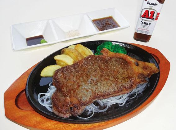 ※土・日限定メニュー(1日10食) 常陸牛のサーロインステーキ(単品)